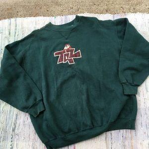 Vintage Looney Tunes Sweatshirt XL 90s Grunge TAZ
